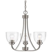 Z-Lite 460-3-BN Ashton 3 Light 21 inch Brushed Nickel Chandelier Ceiling Light