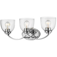Z-Lite 460-3V-CH Ashton 3 Light 23 inch Chrome Vanity Wall Light