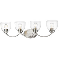 Z-Lite 460-4V-BN Ashton 4 Light 32 inch Brushed Nickel Vanity Wall Light