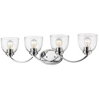 Z-Lite 460-4V-CH Ashton 4 Light 32 inch Chrome Vanity Wall Light
