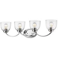 Z-Lite 460-4V-CH Ashton 4 Light 32 inch Chrome Vanity Wall Light