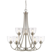 Z-Lite 460-9-BN Ashton 9 Light 31 inch Brushed Nickel Chandelier Ceiling Light