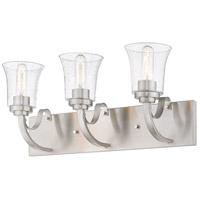 Z-Lite 461-3V-BN Halliwell 3 Light 22 inch Brushed Nickel Vanity Wall Light