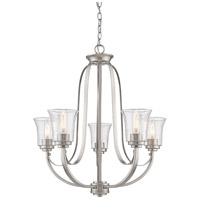 Z-Lite 461-5BN Halliwell 5 Light 25 inch Brushed Nickel Chandelier Ceiling Light