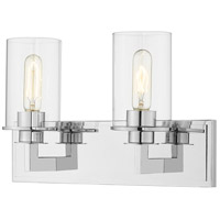 Z-Lite 462-2V-CH Savannah 2 Light 16 inch Chrome Vanity Wall Light