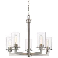 Z-Lite 462-5BN Savannah 5 Light 24 inch Brushed Nickel Chandelier Ceiling Light