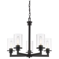 Z-Lite 462-5BRZ Savannah 5 Light 24 inch Bronze Chandelier Ceiling Light