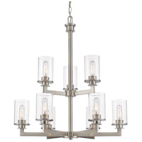 Z-Lite 462-9BN Savannah 9 Light 29 inch Brushed Nickel Chandelier Ceiling Light