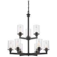 Z-Lite 462-9BRZ Savannah 9 Light 29 inch Bronze Chandelier Ceiling Light