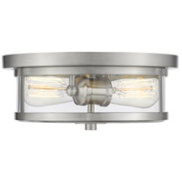 Savannah 2 Light 11 inch Brushed Nickel Flush Mount Ceiling Light