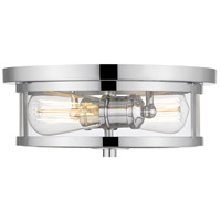 Savannah 2 Light 11 inch Chrome Flush Mount Ceiling Light