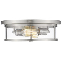 Savannah 2 Light 14 inch Brushed Nickel Flush Mount Ceiling Light