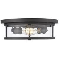 Savannah 2 Light 14 inch Bronze Flush Mount Ceiling Light