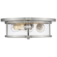 Savannah 3 Light 16 inch Brushed Nickel Flush Mount Ceiling Light