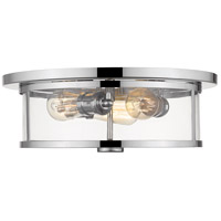 Savannah 3 Light 16 inch Chrome Flush Mount Ceiling Light