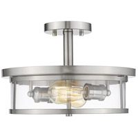 Savannah 2 Light 14 inch Brushed Nickel Semi Flush Mount Ceiling Light