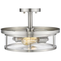 Z-Lite 462SF14-BN Savannah 2 Light 14 inch Brushed Nickel Semi Flush Mount Ceiling Light alternative photo thumbnail