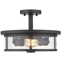 Z-Lite 462SF14-BRZ Savannah 2 Light 14 inch Bronze Semi Flush Mount Ceiling Light