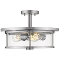 Z-Lite 462SF16-BN Savannah 3 Light 16 inch Brushed Nickel Semi Flush Mount Ceiling Light