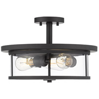 Z-Lite 462SF16-BRZ Savannah 3 Light 16 inch Brushed Nickel Semi Flush Mount Ceiling Light