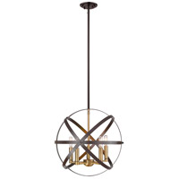Z-Lite 463-18HBRZ-OBR Cavallo 5 Light 18 inch Hammered Bronze and Olde Brass Pendant Ceiling Light