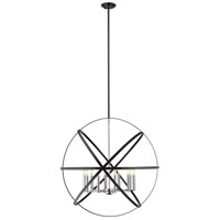 Z-Lite 463-36HBK-CH Cavallo 10 Light 36 inch Hammered Black and Chrome Pendant Ceiling Light