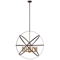 Z-Lite 463-36HBRZ-OBR Cavallo 10 Light 36 inch Hammered Bronze and Olde Brass Pendant Ceiling Light