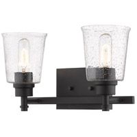 Z-Lite 464-2V-MB Bohin 2 Light 16 inch Matte Black Vanity Wall Light