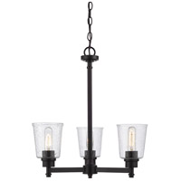 Z-Lite 464-3MB Bohin 3 Light 20 inch Matte Black Chandelier Ceiling Light