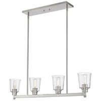 Z-Lite 464-4L-BN Bohin 4 Light 40 inch Brushed Nickel Island Light Ceiling Light