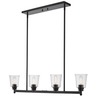 Z-Lite 464-4L-MB Bohin 4 Light 40 inch Matte Black Island Light Ceiling Light