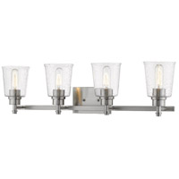 Z-Lite 464-4V-BN Bohin 4 Light 32 inch Brushed Nickel Vanity Wall Light