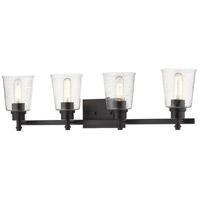 Z-Lite 464-4V-MB Bohin 4 Light 32 inch Matte Black Vanity Wall Light