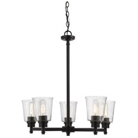 Z-Lite 464-5MB Bohin 5 Light 25 inch Matte Black Chandelier Ceiling Light