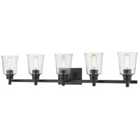Z-Lite 464-5V-MB Bohin 5 Light 41 inch Matte Black Vanity Wall Light