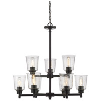 Z-Lite 464-9MB Bohin 9 Light 28 inch Matte Black Chandelier Ceiling Light