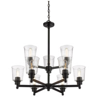 Z-Lite 464-9MB Bohin 9 Light 28 inch Matte Black Chandelier Ceiling Light alternative photo thumbnail