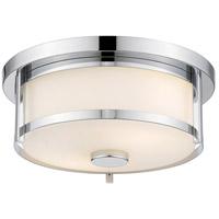 Z-Lite 465F11-CH Savannah 2 Light 11 inch Chrome Flush Mount Ceiling Light