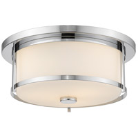 Savannah 2 Light 14 inch Chrome Flush Mount Ceiling Light
