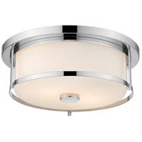 Z-Lite 465F16-CH Savannah 3 Light 16 inch Chrome Flush Mount Ceiling Light