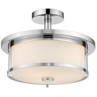 Z-Lite 465SF14-CH Savannah 2 Light 14 inch Chrome Semi Flush Mount Ceiling Light