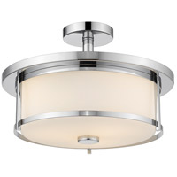 Z-Lite 465SF16-CH Savannah 3 Light 16 inch Chrome Semi Flush Mount Ceiling Light