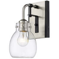Z-Lite 466-1S-MB-BN Kraken 1 Light 5 inch Matte Black and Brushed Nickel Wall Sconce Wall Light