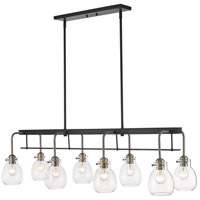 Z-Lite 466-8L-MB-BN Kraken 8 Light 44 inch Matte Black and Brushed Nickel Island Light Ceiling Light