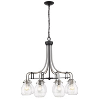 Z-Lite 466-8MB-BN Kraken 8 Light 28 inch Matte Black and Brushed Nickel Chandelier Ceiling Light