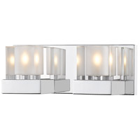 Z-Lite 467-2V-CH Fallon 2 Light 12 inch Chrome Vanity Wall Light