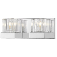 Z-Lite 468-2V-CH Fallon 2 Light 12 inch Chrome Vanity Wall Light