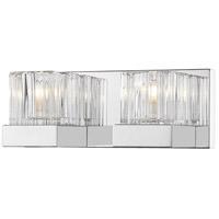 Z-Lite 468-2V-CH Fallon 2 Light 12 inch Chrome Vanity Wall Light