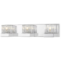 Z-Lite 468-3V-CH Fallon 3 Light 22 inch Chrome Vanity Light Wall Light in G9