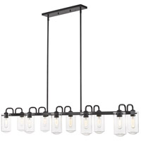 Z-Lite 471-10L-MB Delaney 10 Light 56 inch Matte Black Island/Billiard Ceiling Light
